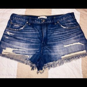 Abercrombie and Fitch Highrise Shorts